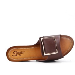 Big size 38-43 - Brown sling with heel