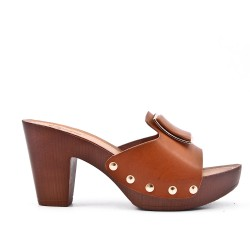 Big size 38-43 - Camel sling with heel