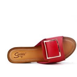 Grande taille 38-43 - Claquette rouge à talon