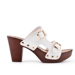 Big size 38-43 - White buckle clasp