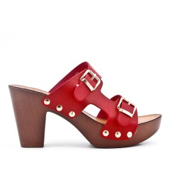 Big size 38-43 - Red buckle clasp