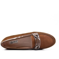 Size 37-42 - Camel moccasin in faux suede