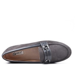 Size 37-42 - Gray moccasin in faux suede