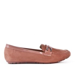 Size 37-42 - Pink moccasin in faux suede