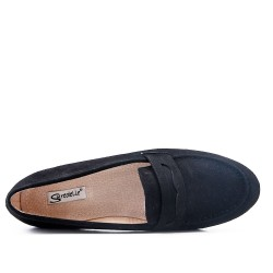 Size 37-42 - Black moccasin in faux suede