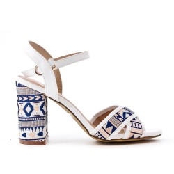 Sandale blanche à talon
