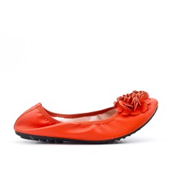 Ballerine rouge confort en grande taille