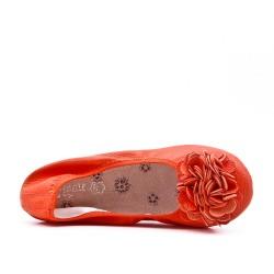 Ballerine orange confort en grande taille