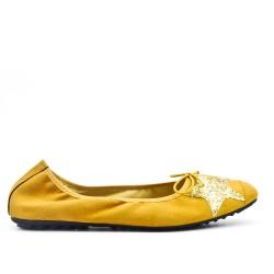 Ballerine jaune à motif étoile en grande taille