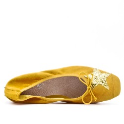Yellow ballerina with star pattern in large size