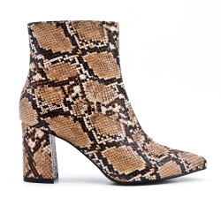 Ankle boot snake elastic