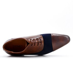 Two-material lace derby