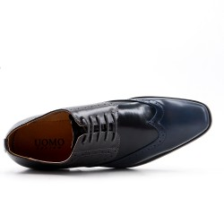 Lace-up faux leather brogue