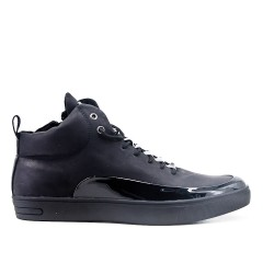 Lace up boot negro