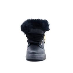 Bota negra de niña con pelaje