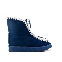 Blue girl boot with fur