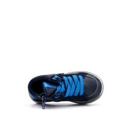 Basket enfant bleu à lacet