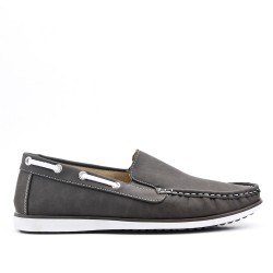 Gray imitation leather moccasin