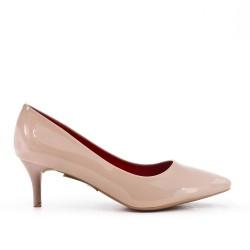 Pink pumps in heel