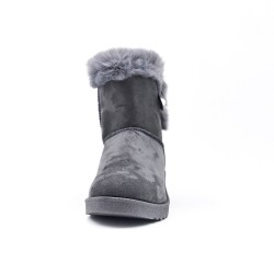 Gray beaded ankle boot