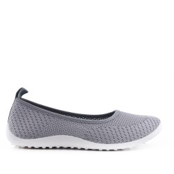 Gray shoe in stretch textile