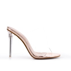 Champagne ck cleat with transparent heel