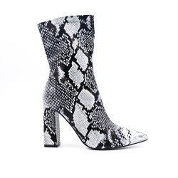 Printed snake boot