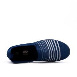 Chaussure bleu en textile extensible