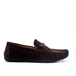 Mocassin marron en simili daim