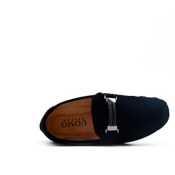 Child moccasin in black suede