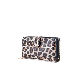 Portefeuille en vernis léopard