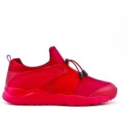 Basket rouge bi-matières