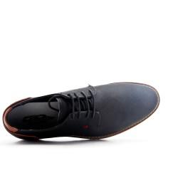 Black derby faux leather lace