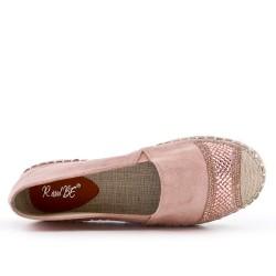 Pink espadrille with rhinestones