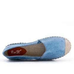 Blue espadrille in faux suede