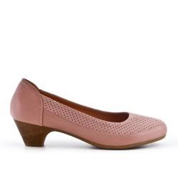 Comfort shoe pink with small heel