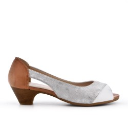 White comfort shoe in faux leather