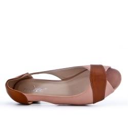 Chaussure confort rose à petit talon