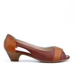 Chaussure confort marron à petit talon