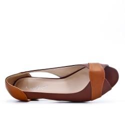 Comfort shoe brown with small heel