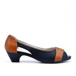 Chaussure confort noir à petit talon
