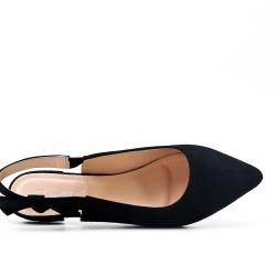 Bailarina negra en gamuza sintética.