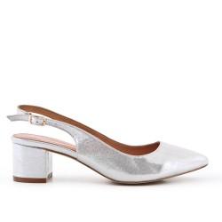 Black high Silver high heels
