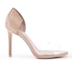 Beige ck high heel pump