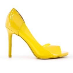 Escarpin jaune transparent à talon haut