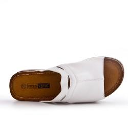 Tamaño grande - solapa blanco con cuña pequeña
