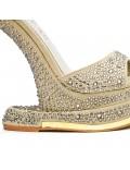 Sandale beige à talon original