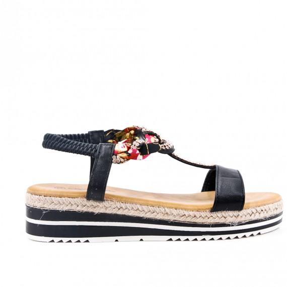52a5fd0f268f Black comfort sandal with rhinestones