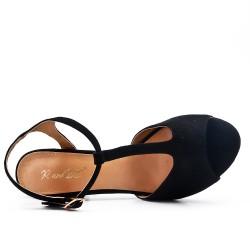 Sandalias de ante negras