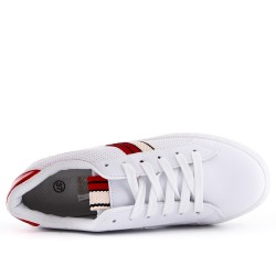 White lace-up sneaker